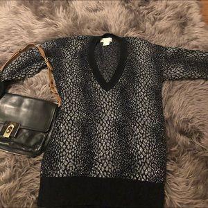 Micheal Kors  animal print sweater Size XS